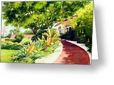 Inn At Rancho Santa Fe Greeting Card by Mary Helmreich