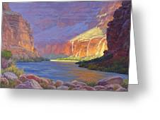 Inner Glow Of The Canyon Greeting Card