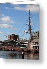 Inner Harbor At Baltimore Md - 12128 Greeting Card