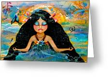 Inner Peace Greeting Card by Karin Taylor