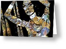 Inner Strength Steampunk Portrait  Greeting Card