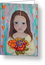 Innocence Greeting Card by Anamarie Fox