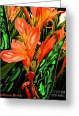 Inpressionistic Garden Greeting Card