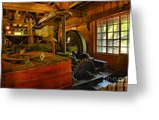 Inside A Grist Mill Greeting Card
