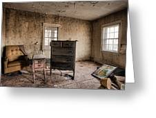 Inside Abandoned House Photos - Old Room - Life Long Gone Greeting Card