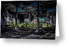 Inside An Abandon Building Greeting Card