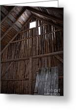Inside An Old Barn Greeting Card