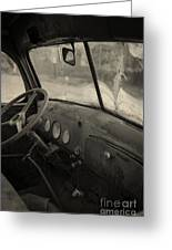 Inside An Old Junker Car Greeting Card