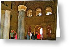 Inside Church Of Saint Nicholas In Myra-turkey Greeting Card