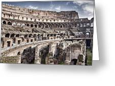 Inside Colosseum Greeting Card
