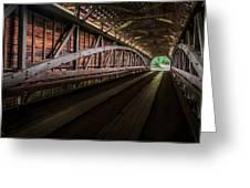Inside Covered Bridge Greeting Card