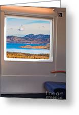 Inside High-speed Train Greeting Card