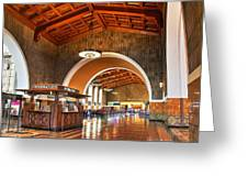 Inside Los Angeles Union Station Greeting Card