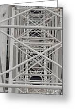 Inside Of The Ferris Wheel Greeting Card