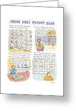 'inside One's Memory Bank' Greeting Card