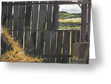 Barn -inside Looking Out - Summer Greeting Card
