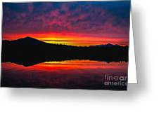 Inside Passage Sunrise Greeting Card