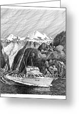 Cruising The Inside Passage Greeting Card
