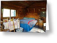 Inside Savage River Cabin In Denali Np-ak   Greeting Card