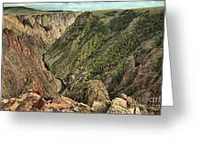 Inside The Black Canyon Greeting Card