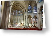 Inside The Cathedral Basilica Of The Immaculate Conception 1 Greeting Card
