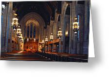 Inside The Cathedral Greeting Card