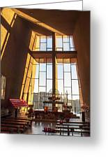 Inside The Chapel Of The Holy Cross Greeting Card