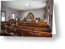 Inside The Church Greeting Card