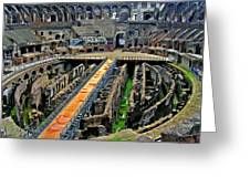 Inside The Colosseum I I Greeting Card