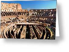 Inside The Colosseum Greeting Card