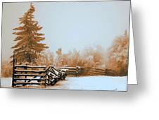 Inside The Corral Greeting Card