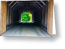 Inside The Covered Bridge Greeting Card