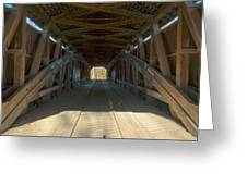 Inside The Cox Ford Covered Bridge Greeting Card