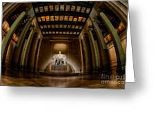 Inside The Lincoln Memorial Greeting Card
