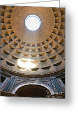 Inside The Pantheon - Rome - Italy Greeting Card