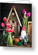 Inside The Potting Shed Greeting Card