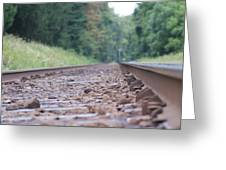 Inside The Rails Greeting Card