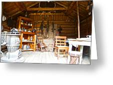 Inside The Real Sam Mcgee's Cabin In Macbride Museum In Whitehorse-yk Greeting Card