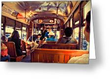 Inside The St. Charles Ave Streetcar New Orleans Greeting Card