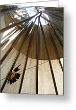 Inside The Tipi Greeting Card