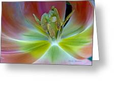 Inside The Tulip Greeting Card