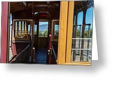 Inside Trolley 28 Greeting Card