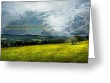 Inspirational - Eternal Hope - Psalms 19-1 Greeting Card