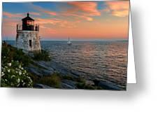 Inspirational Seascape - Newport Rhode Island Greeting Card by Thomas Schoeller