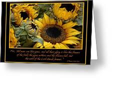 Inspirational Sunflowers Greeting Card