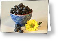 Inspired By Blue Berries Greeting Card