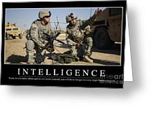 Intelligence Inspirational Quote Greeting Card