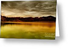 Intenisty In The Clouds  Greeting Card