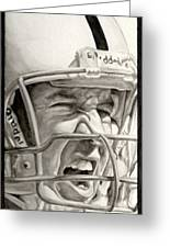 Intensity Peyton Manning Greeting Card