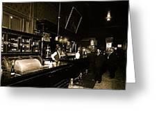Interior Cabinet Saloon 68 W. Congress Tucson Arizona  C.1910-2011 Greeting Card